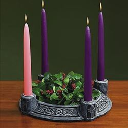 Green Celtic Advent Wreath