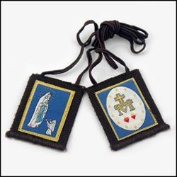 Picture of Our Lady of Lourdes Scapular