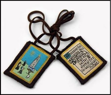 Picture of Brown Scapular, Our Lady of Fatima