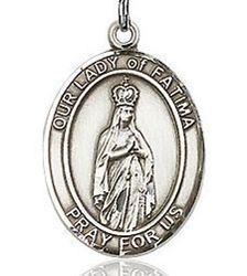 Picture of Our Lady of Fatima Sterling Silver Medal