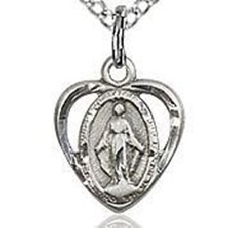 Picture of Miraculous Medal Heart Carved