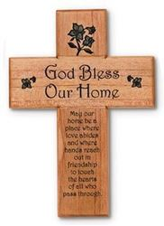"8"" God Bless Our Home Cross"
