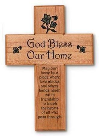 Fabulous God Bless Our Home Cross: Catholic Books, Crucifixes & Gifts  RR57