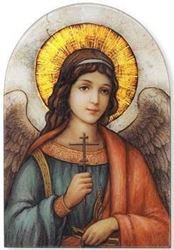 Arched Plaque Angel