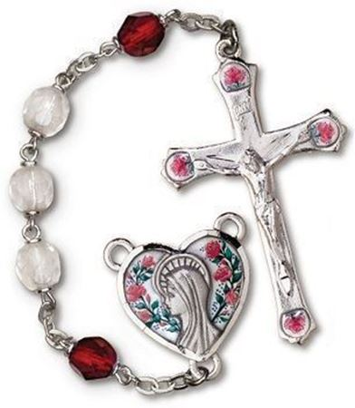 Aurora Borealis Crystal and Ruby Rosary
