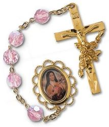 Picture of Saint Therese Rosary Gold