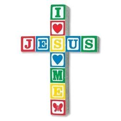 Jesus Loves Me Wall Cross - Primary