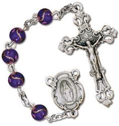Speckled Glass Rosary