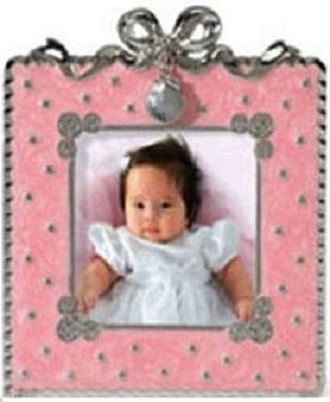 Baptism Photo Frame - Pink