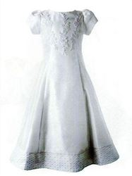 Communion Dress with Appliqued Bodice