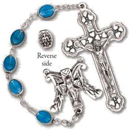 Blue Miraculous Medal Rosary