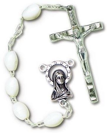 Picture of Plastic White or Black Rosary