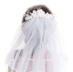 Picture of Pearl and Satin Veil