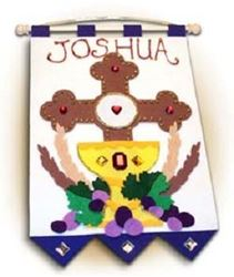 Picture of First Communion Banner Kit - Blue