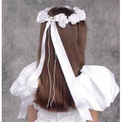 Communion Flower Wreath with Bow