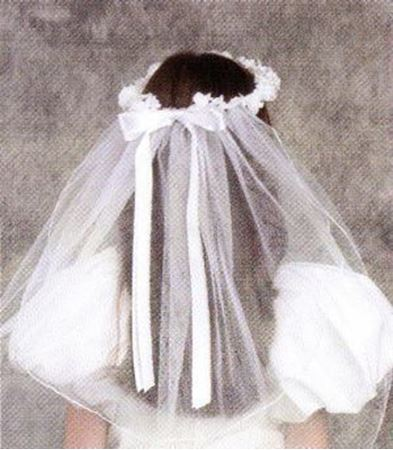 Communion Veil flower Wreath