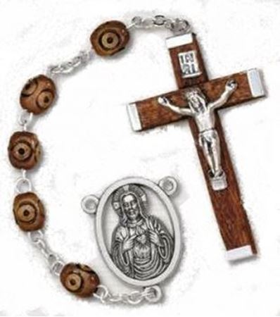 Textured Wood Rosary