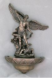 Picture of Veronese St. Michael Holy Water Font - 9 in.