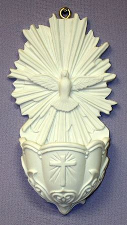 Picture of Holy Spirit Holy Water Font - 5 in.