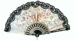 Our Lady of Grace Hand Fan - Black