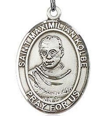 Picture of St. Maximilian Kolbe Sterling Silver Medal