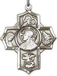 Picture of 5 Way Medal Sacred Heart
