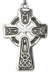 Picture of Sterling Silver Celtic Cut Cross Pendant