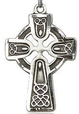Sterling silver celtic cross pendant catholic books crucifixes picture of sterling silver celtic cut cross pendant aloadofball Images