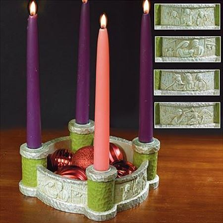 Picture of Bethlehem Scenes Advent Wreath