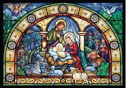 Picture of Stained Glass Holy Night Advent Calendar