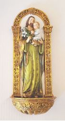 Holy Family Holy Water Font - 8 in.