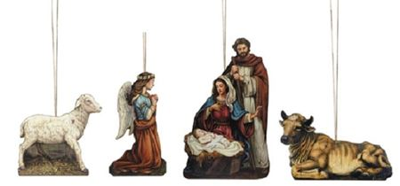 Picture of God's Gift of Love Nativity Ornament Set