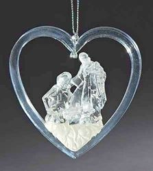 Holy Family in Heart Ornament