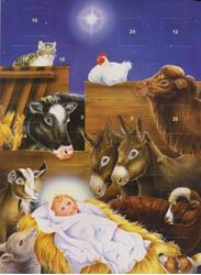 Advent Calendar - Jesus In Manger