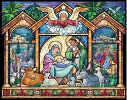 Picture of Stained Glass Nativity Advent Calendar