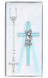 Cross & Rosary Set - 4 in.