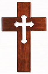 "10"" Mahogany with Cross Cutout"