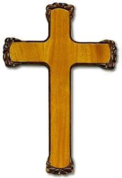 "10"" Mahogany Wall Cross"