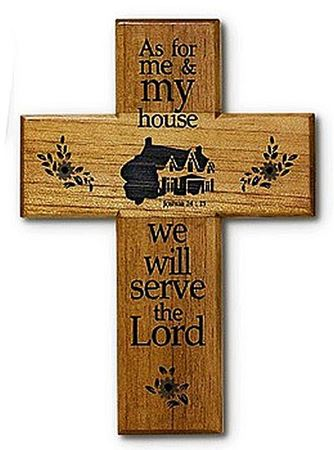 """8"""" As For Me And My House Cross"""