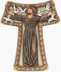 St. Francis Tao Wall Cross - 8 in.