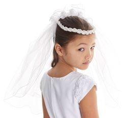 Picture of Communion Veil Beaded