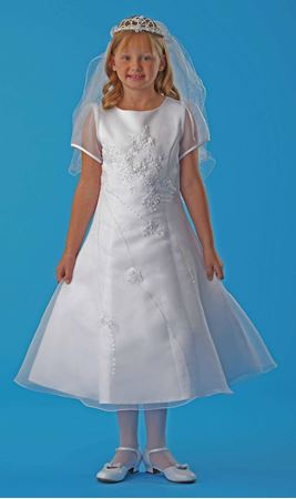 Picture of Communion Dress with Organza Overlay Size 10