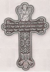 Picture of Bless This Child Prayer Wall Cross - Girl