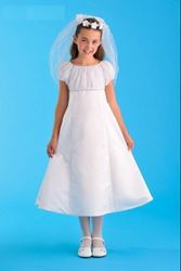 Picture of Communion Dress with Rhinestones Size 14.5