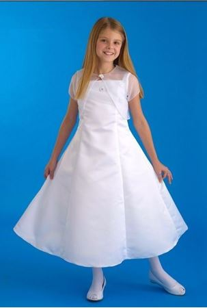 Picture of Communion Dress with Flowers and Jacket Size  14.5