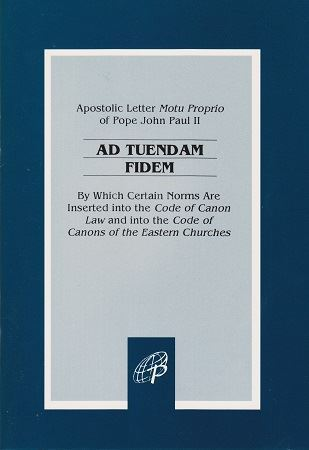 Picture of Ad Tuendam Fidem On Insertion Of Norms Into Canon Law