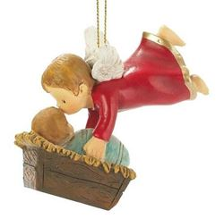 Picture of Angel Kissing Baby Ornament