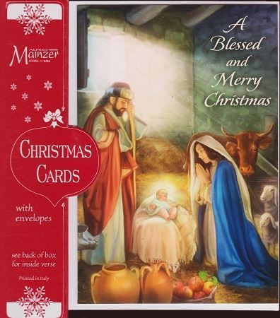 Picture of A Blessed and Merry Christmas Cards
