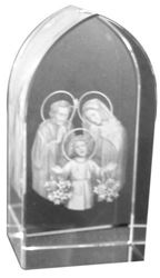 Picture of Etched Glass Holy Family