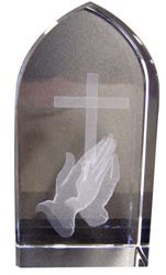 Picture of Etched Glass Praying Hands